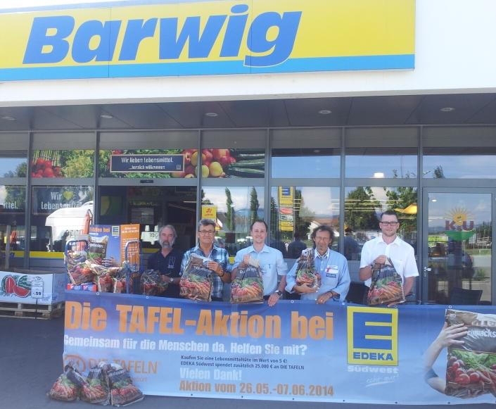 Das Barwig-Team: 500 Spendentüten für die Freiburger TAFGEL ... vielen Dank